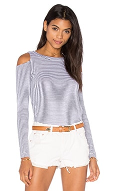 LNA Ashley Jane Stripe Top in Navy Stripe