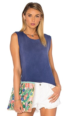 LNA Alissar Muscle Tank in Blue Potassium
