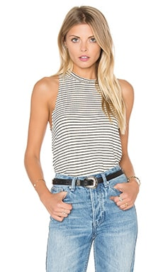 LNA Twiggy Tank in Beige & Black Stripe
