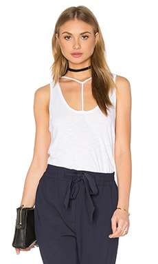 Bondage Strap Tank in White