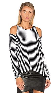 Striped Slice Top in Black Stripe