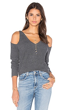 Nix Long Sleeve Top in Charcoal