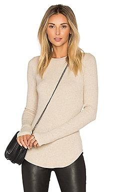 Sloane Rib Long Sleeve Top in Lino