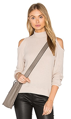 Open Shoulder Turtleneck in Sand