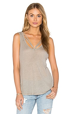 Double Strap Tank in Bark