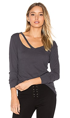 Fallon Long Sleeve Top in Vintage Black