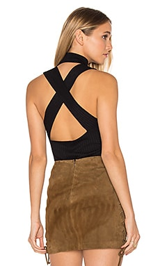 Cross Back Element Top in Black