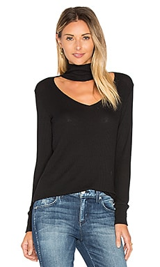 Detached Turtleneck Top en Negro