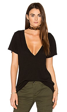 Valley Deep V Tee in Black