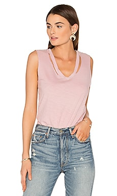 Double Fallon Tank in Rose