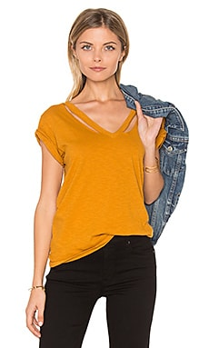 Double Fallon V Tee in Marigold