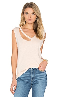 Fallon V Neck Tank in Buff