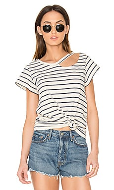 Stripe Desert Tee in Navy Stripe