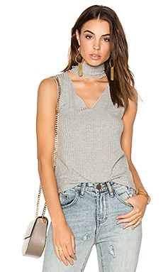 Sleeveless Detached Turtleneck in Marengo