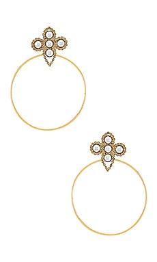 Серьги-кольца bridgette - Lionette by Noa Sade, Металлический золотой, Statement