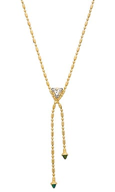 Lionette by Noa Sade Fanny Necklace in Gold & Green