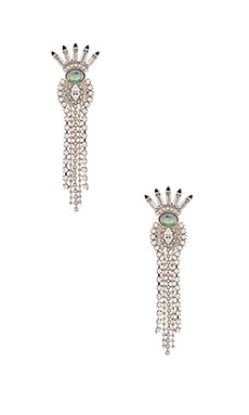 Lionette by Noa Sade Fiji Earring in Rhodium & White