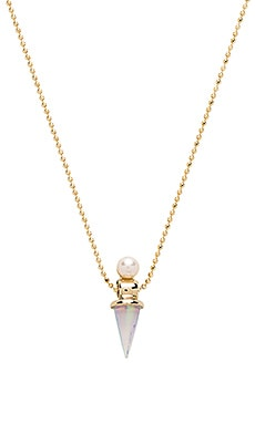 Lionette by Noa Sade Lika Necklace in White & Pearl