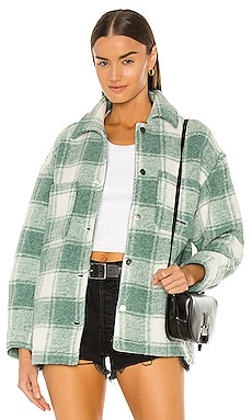 Twiggy Green Shirt Jacket Local Heroes $96 NEW