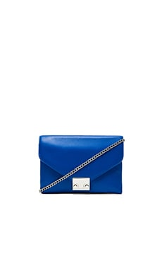 Loeffler Randall Jr Lock Clutch in Electric Blue