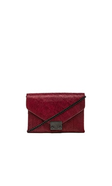 Loeffler Randall Jr Lock Clutch in Maroon