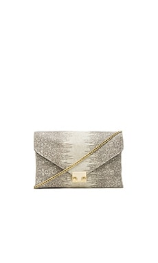Loeffler Randall Lock Clutch in Cream