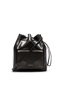 Loeffler Randall Lock Bucket Bag in Black