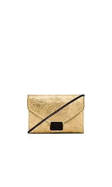 Loeffler Randall Junior Lock Clutch in Gold