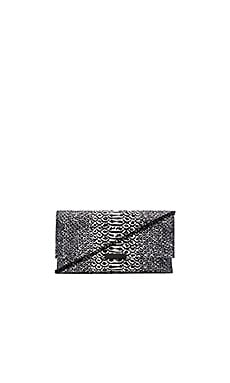 Loeffler Randall Tab Clutch in Black & White