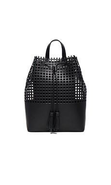 Loeffler Randall Tassel Backpack in Black