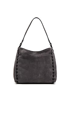 Mini Hobo Bag in Dark Grey & Black