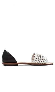 Loeffler Randall Sawyer Sandal in White & Black