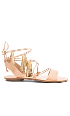 Loeffler Randall Saffron Sandal in Wheat & Gold