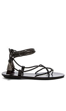 Bo Sandal in Black & Natural Black