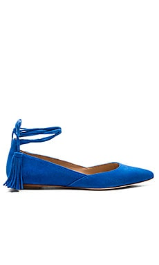 Loeffler Randall Penelop Flat in Brilliant Blue