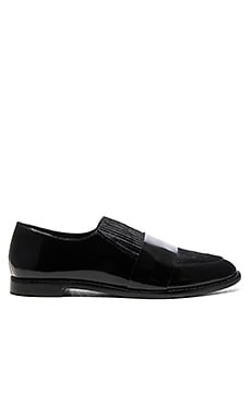 Rosa Calf Hair Loafer in Black