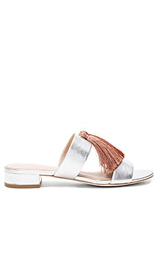 Rubie Sandal in Silver & Pink Clay