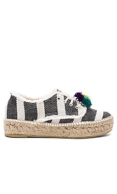 Alfie Espadrille in Black Stripe & Multi
