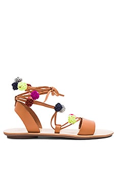 Saskia Sandal in Light Cuoio & Multi