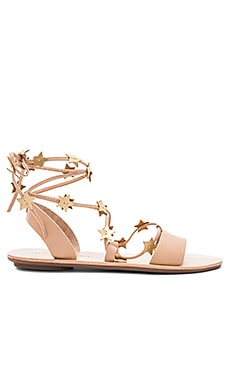 Starla Sandal in Wheat & Gold