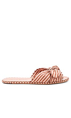 Shirley Knotted Ric Rac Slide With Scalloped Edge Loeffler Randall $295