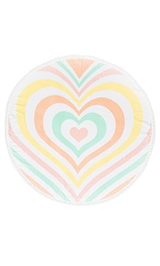Lover Pom Pom Towel in Rainbow Heart