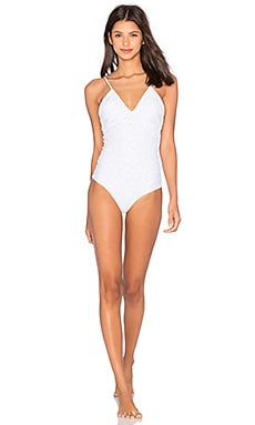 Kisses One Piece Swimsuit in Seashell