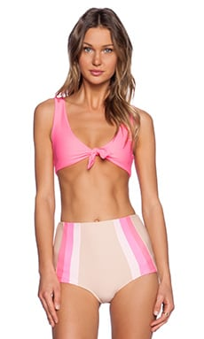 lolli swim Lemons Bikini Top in Hot Pink