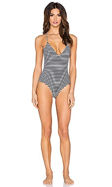 lolli swim Lunchtime V Neck Crisscross One Piece in Sweets