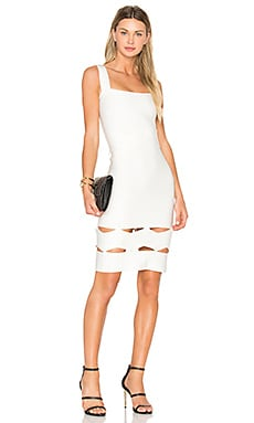 Livia Zig Zag Midi Dress en Off