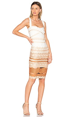 Leticia Zig Zag Fitted Midi Dress