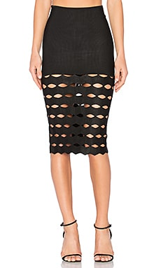 Julia Midi Skirt in Preto