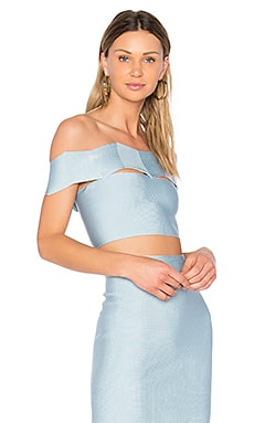 Livia Zig Zag Crop Top en Acqua