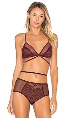 Winona Soft Cup Bra in Oxblood
